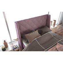 Κρεβάτι Casablanca Ντυμένο Υπέρδιπλο Ύφασμα Media strom 180x200cm