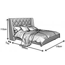 Κρεβάτι Casablanca Ντυμένο Υπέρδιπλο Ύφασμα Media strom 170x200cm