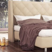 Κρεβάτι Casablanca Bridal Ντυμένο Υπέρδιπλο Ύφασμα Media strom 160x200cm
