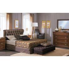 Κρεβάτι London Ντυμένο Διπλό Ύφασμα Media strom 160x200cm